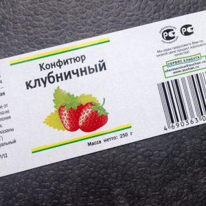 Наклейка на конфитюр